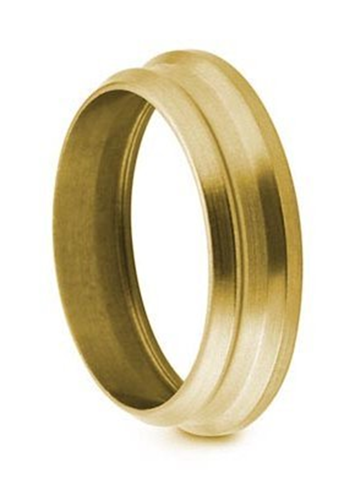 "Picture of Back Ferrule 1/4"" Brass Swagelok"