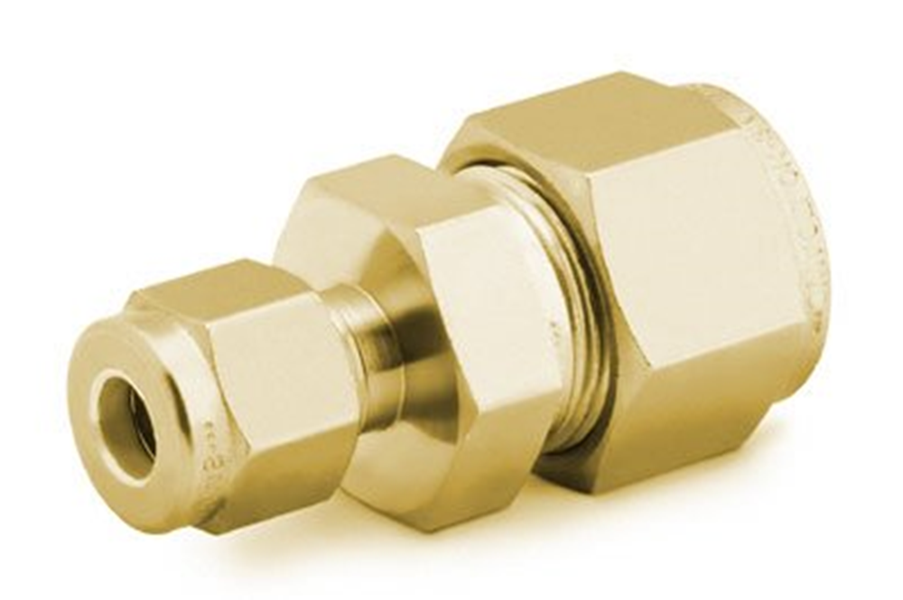"""Picture of Reducing Union 1/4""""- 1/8"""" Brass Swagelok"""