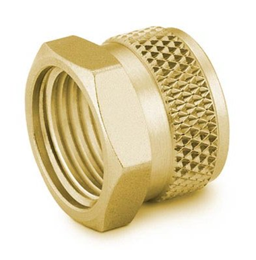 "Picture of Knurled Nut 1/8"" Brass Swagelok"