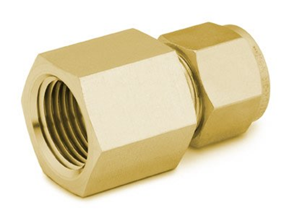"""Picture of Female NPT Connector 1/4""""T-3/8""""P Brass Swagelok"""