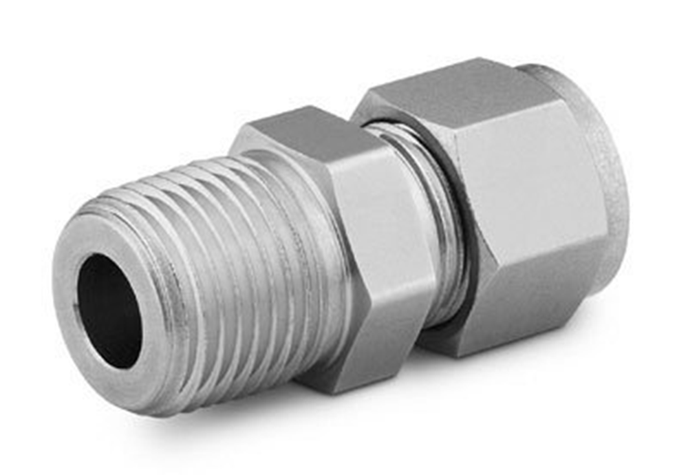"""Picture of Male NPT Connector 1/4""""T-1/8""""P S/S Swagelok"""