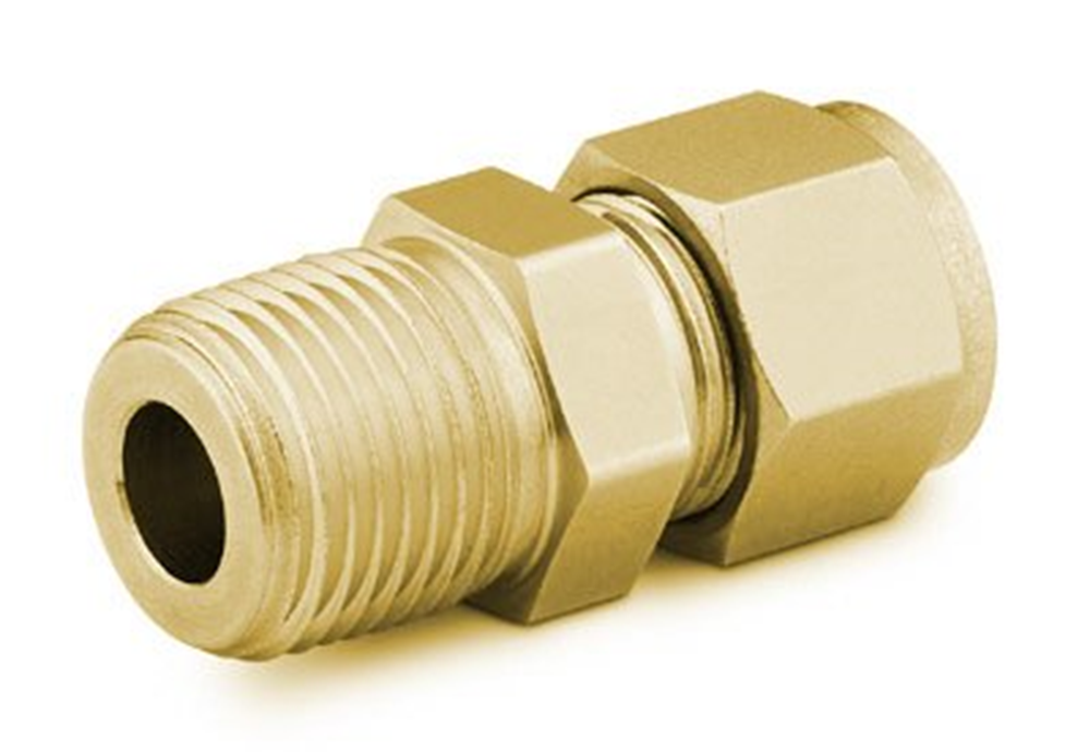 """Picture of Male NPT Connector 1/16""""T-1/16""""P Brass Swagelok"""