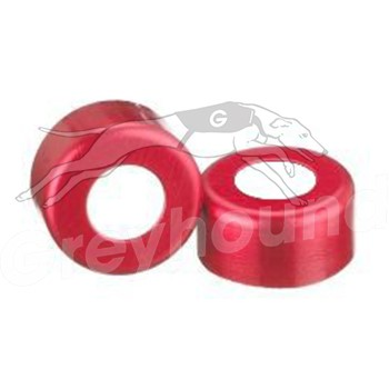 11mm Aluminium Crimp Cap (Red) with PTFE Liner
