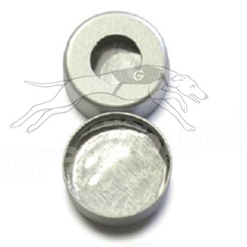 11mm Aluminium Crimp Cap with Solid Aluminium Liner and Silicone Sealing Ring