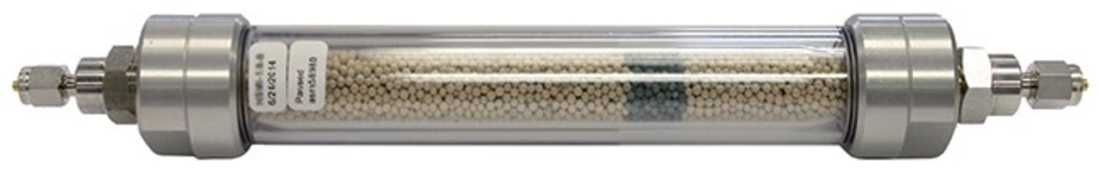 "Picture of ZPure Glass High Sensitivity Moisture Filter, 130cc, 1/4"" S/S Compression Fittings"