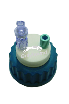 """Smart Healthy Cap GL45 with 1 outlet (1/8"""" to 1/16"""" ) + 1 air check valve"""