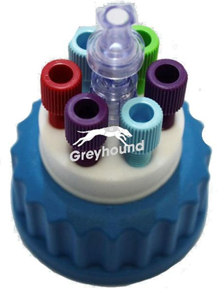 """Smart Healthy Cap GL45 with 6 outlets (1/8"""") + 1 air check valve"""