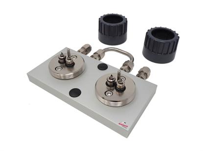 "Trajan Gas Filter Cartridge Base Plate, 1/8"" S/S (2 position)"