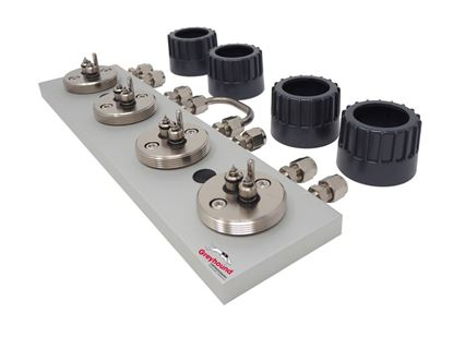 "Trajan Gas Filter Cartridge Base Plate, 1/8"" S/S (4 position)"